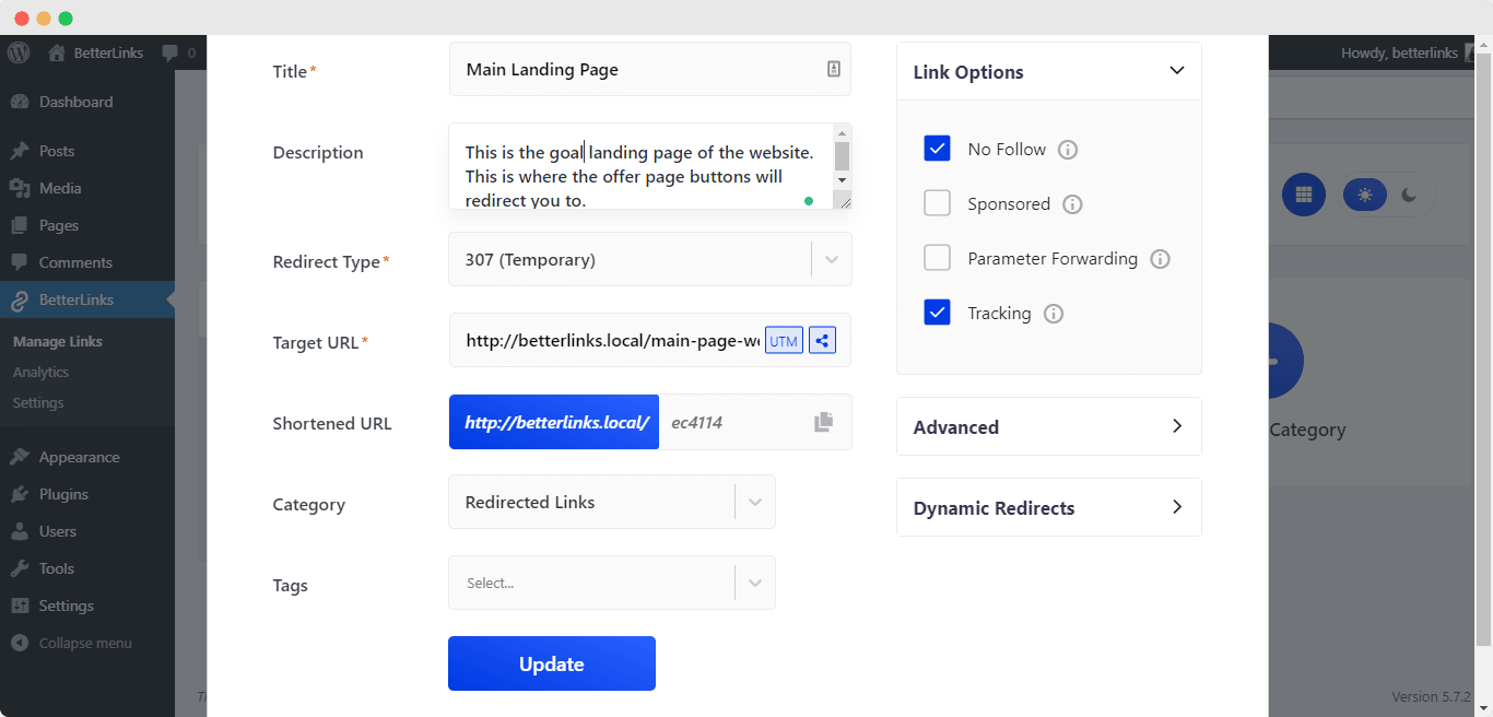Split tests with Dynamic Redirects